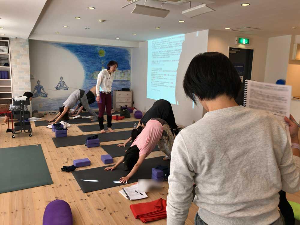 2018年12月12日・ヨガアドバンスコースでの超実践的解剖学講義・キッドヨガスクール神戸三宮元町スタジオ