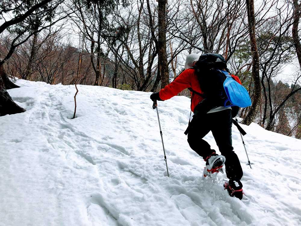 2019年1月21日 蛇谷ヶ峰にてワカン雪山歩行トレーニング