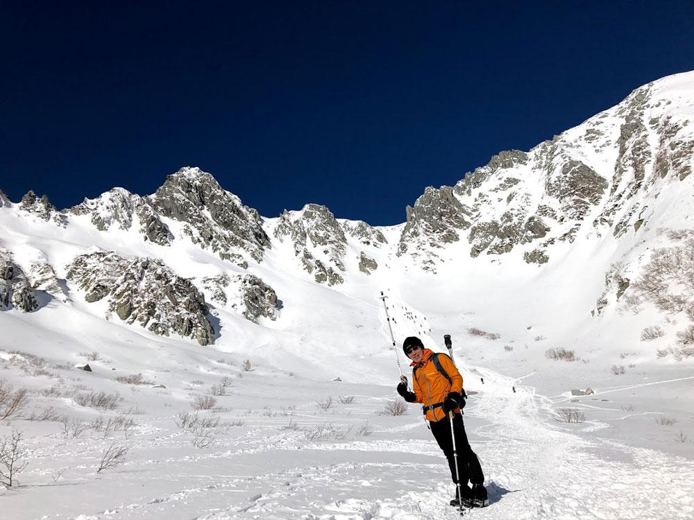 2019年1月14日木曽駒ケ岳2956m中央アルプス最高峰・カールを一気登り開始!