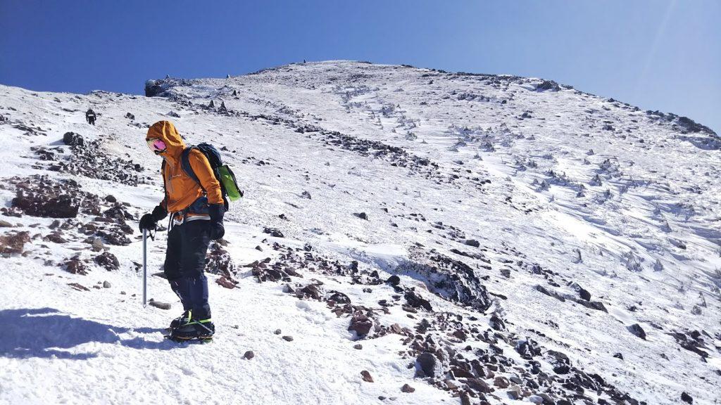 アルプス雪山登山 硫黄岳2760m