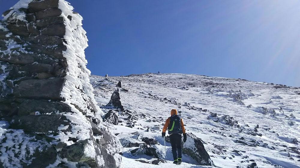 2019.2.17 アルプス雪山登山 硫黄岳2760m